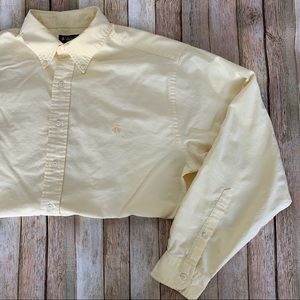 Brooks Brothers mens lg casual yellow button down